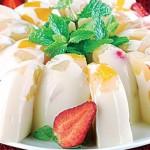 resep puding susu isi  buah enak dan lezat