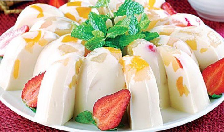 Resep puding susu isi buah