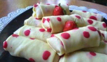 Resep dadar gulung polkadot