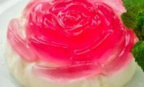 Resep Puding mawar dua lapis