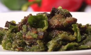 Resep Cara membuat Daging Kambing Cabe Ijo enak pedas