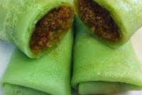 Resep Cara Membuat Dadar Gulung enten durian