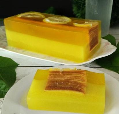 Resep Cara membuat Puding cake lemon