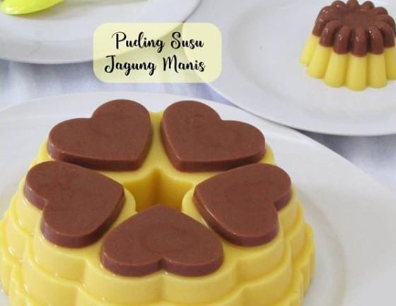 Resep Puding Susu Jagung Manis Coklat